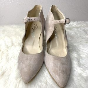 Free People Shoes - Free People Cerow Blush Pointy Toe Heels Sz. 36